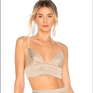 superdown X REVOLVE Kimberly Snakeskin Top